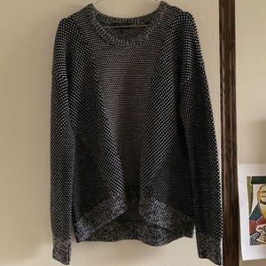 Rag & Bone Patterned Grey Merino Wool Sweater